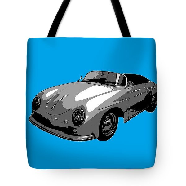 Blue Speedster Tote Bag