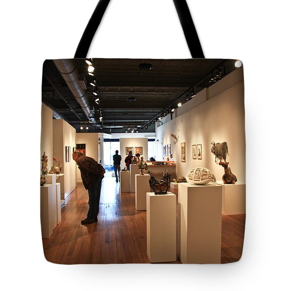 Blue Spiral Gallery In Asheville Tote Bag