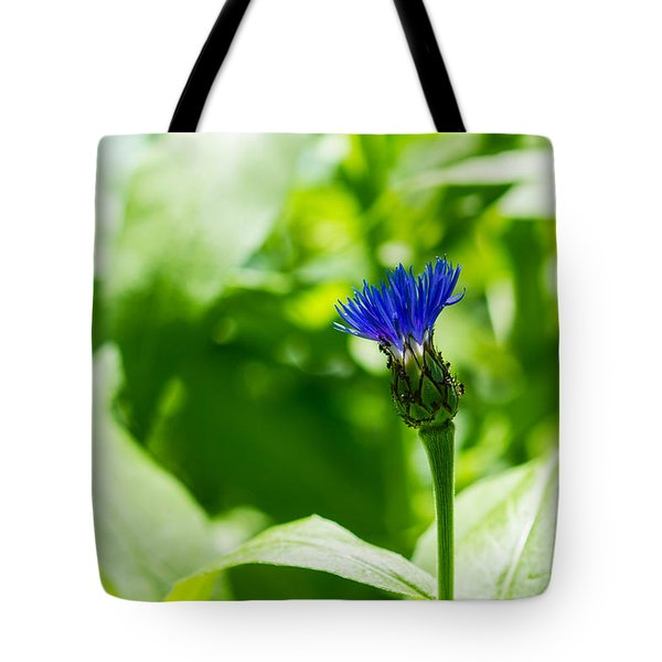 Blue Spot In The Green World - Featured 3 Tote Bag by Alexander Senin