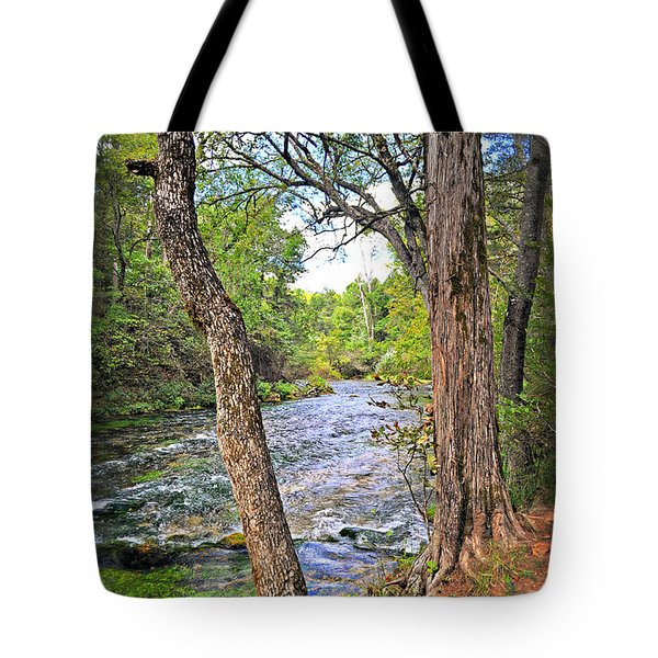 Blue Spring Branch 2 Tote Bag by Marty Koch