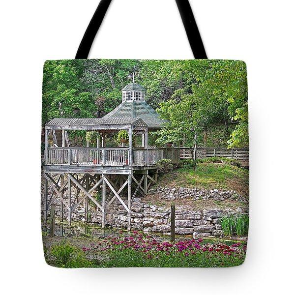 Blue Spring Gazebo Tote Bag