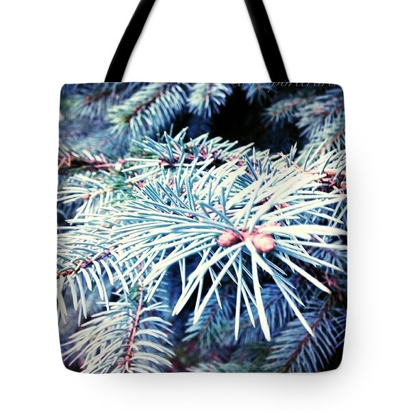 Blue Spruce Branches Tote Bag