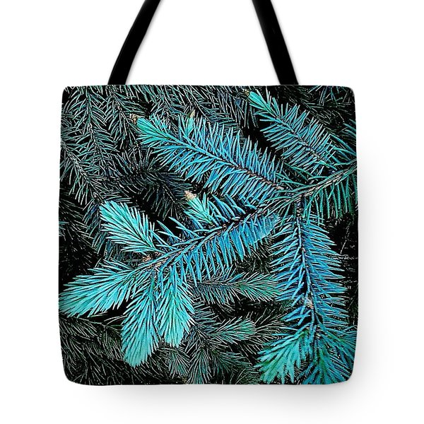 Blue Spruce Tote Bag by Daniel Thompson