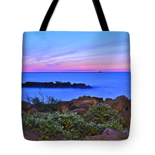 Blue Sunset Tote Bag by Frozen in Time Fine Art Photography