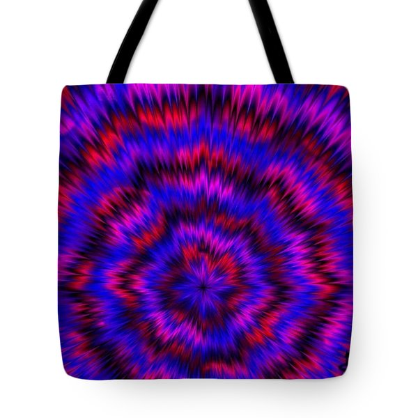 Blue Super Nova Tote Bag