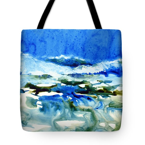 Blue Surf Tote Bag by Joan Hartenstein