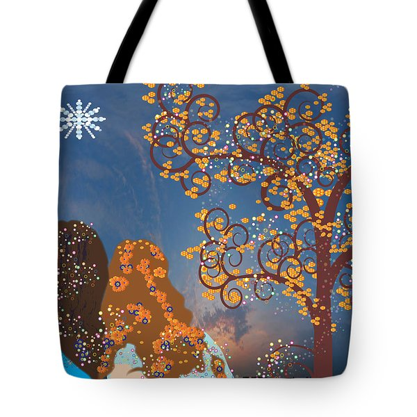 Blue Swirl Girls Tote Bag by Kim Prowse