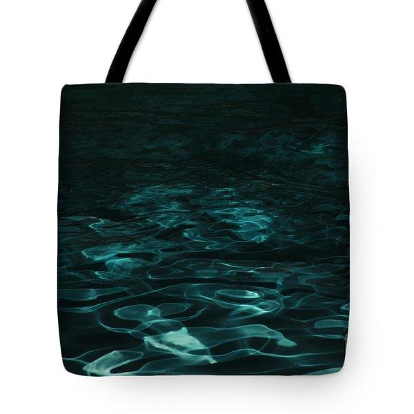 Blue Swirl One Tote Bag by Chris Thomas