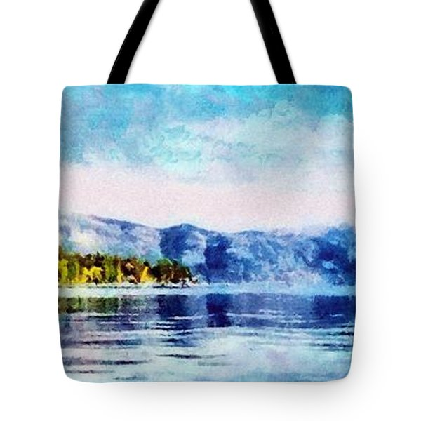 Blue Tahoe Tote Bag by Jeffrey Kolker