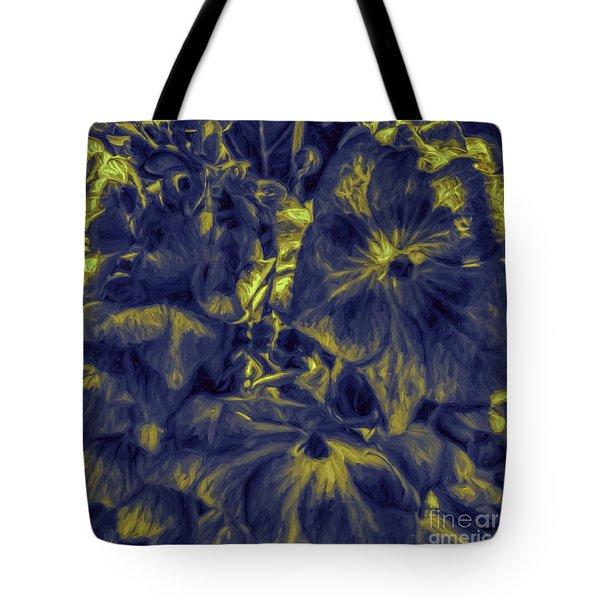Blue Tango Floral Tote Bag