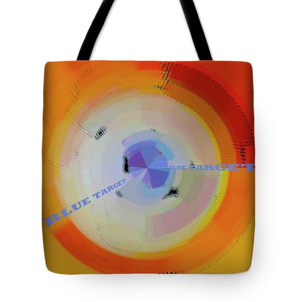 Blue Target Tote Bag by Ben and Raisa Gertsberg