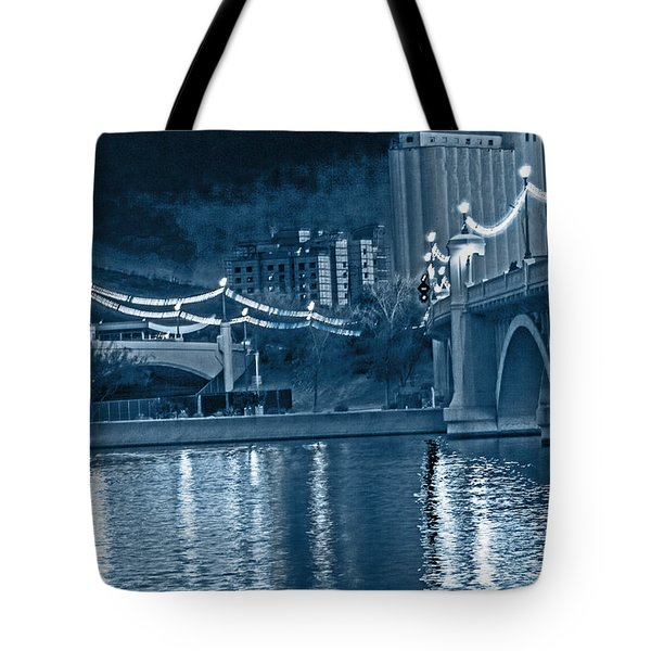 Blue Tempe Evening Tote Bag