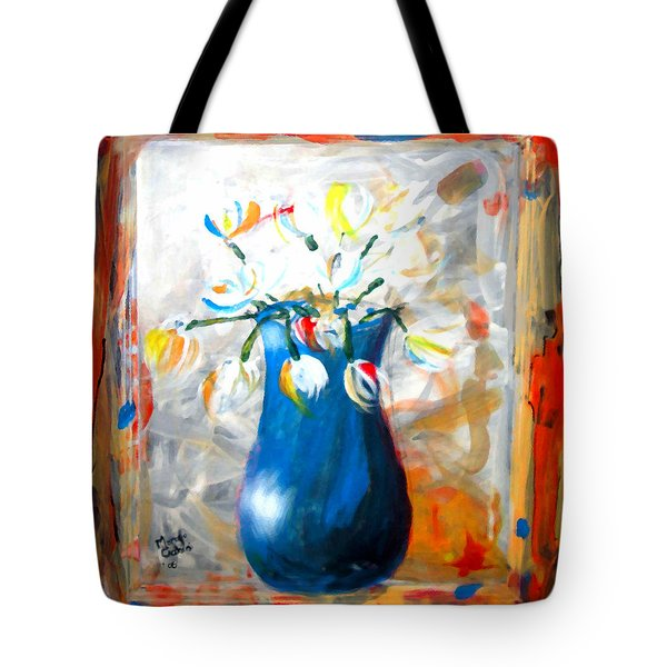 Blue Thing Tote Bag by Marcello Cicchini