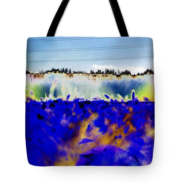 Blue Things Tote Bag by Carol Lynch