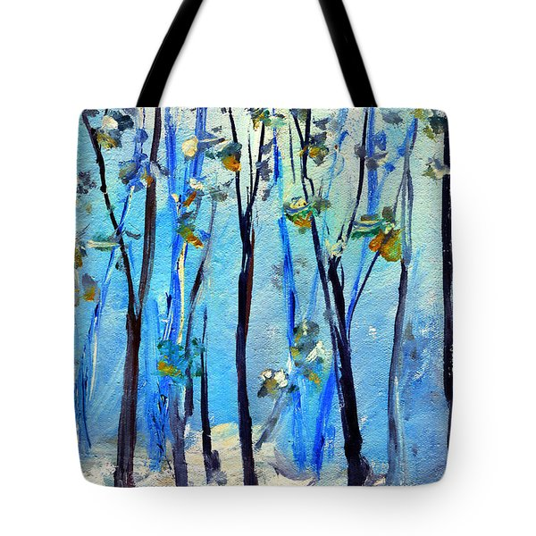 Blue Thoughts In Winter Tote Bag