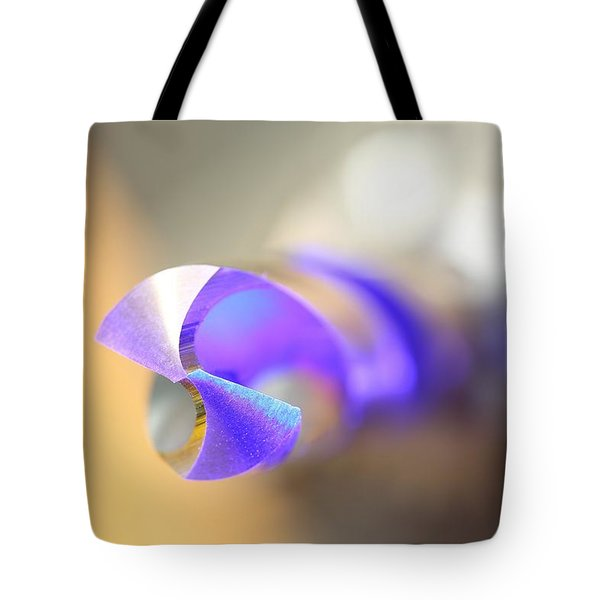 Blue Three Quarter Tote Bag by David Andersen