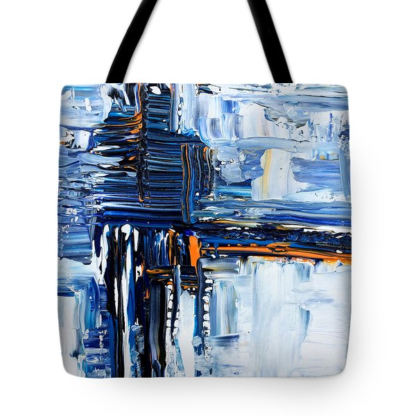 Blue Thunder Tote Bag by Rebecca Davis