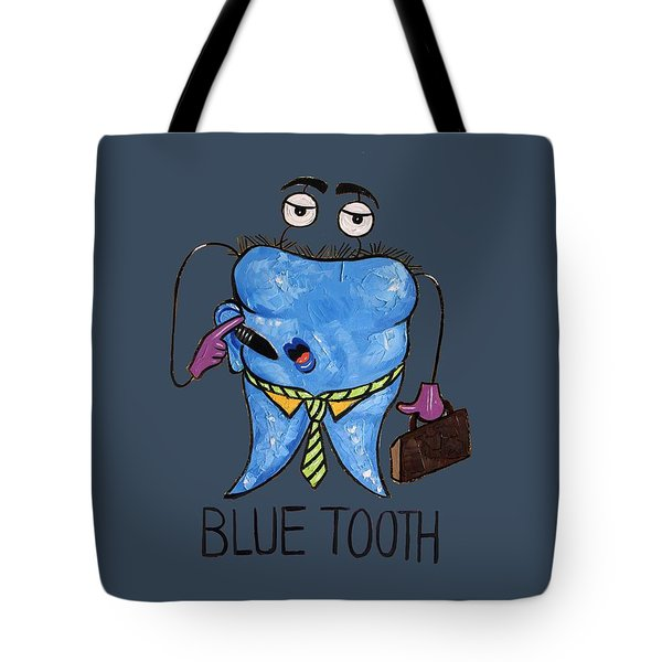 Blue Tooth Dental Art By Anthony Falbo Tote Bag by Anthony Falbo