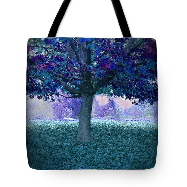 Blue Tree Monet Painting Background Tote Bag