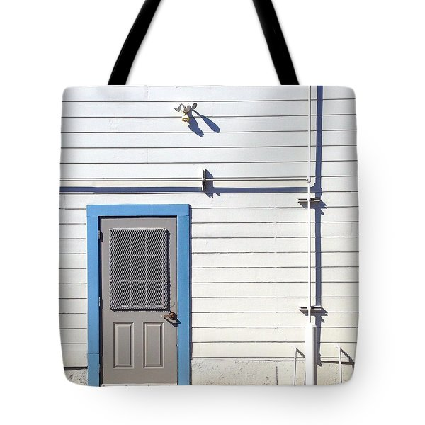 Blue Trim Tote Bag