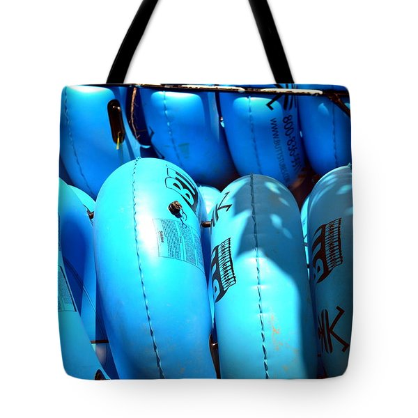 Tote Bag featuring the photograph Blue Tube by Cathy Shiflett