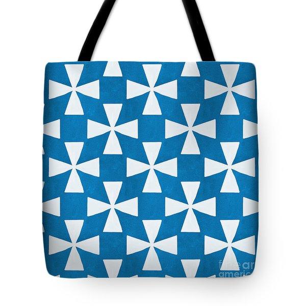 Blue Twirl Tote Bag by Linda Woods