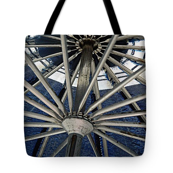 Blue Umbrella Underpinnings Tote Bag