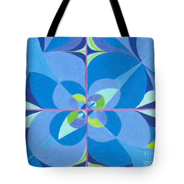 Blue Unity Tote Bag by Kim Sy Ok