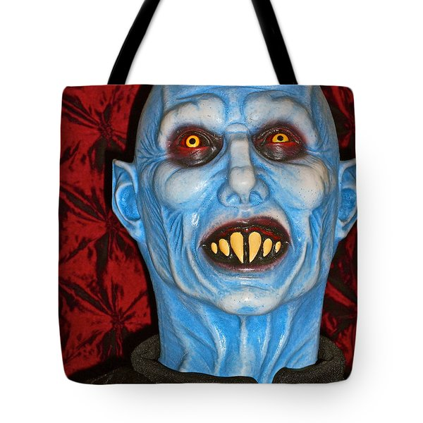 Tote Bag featuring the photograph Blue Vampire by Joan Reese