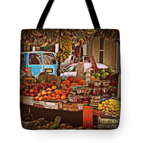 Tote Bag featuring the photograph Blue Van by Miriam Danar