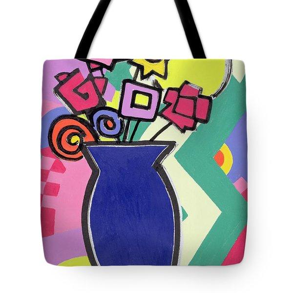 Blue Vase Tote Bag by Bodel Rikys