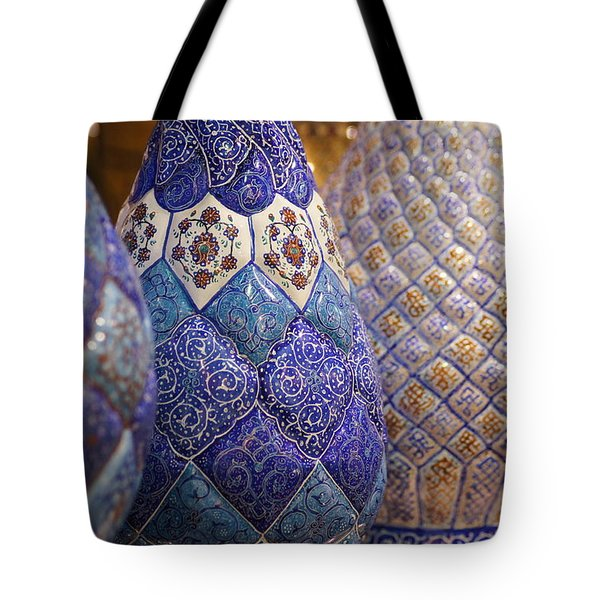 Blue Vases Tote Bag