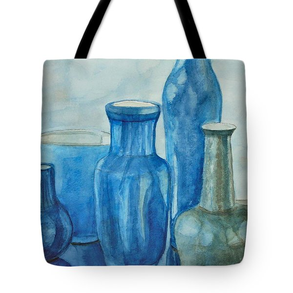 Blue Vases I Tote Bag
