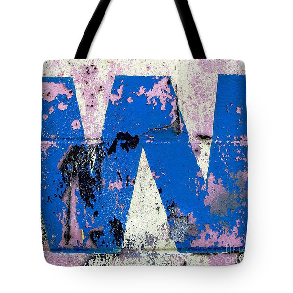 Blue W Tote Bag