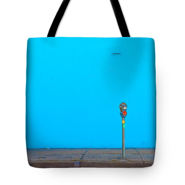 Blue Wall Parking Tote Bag
