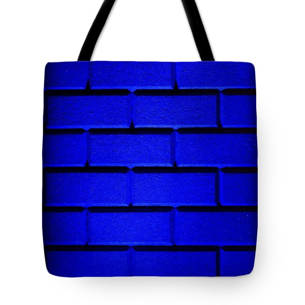 Blue Wall Tote Bag by Semmick Photo