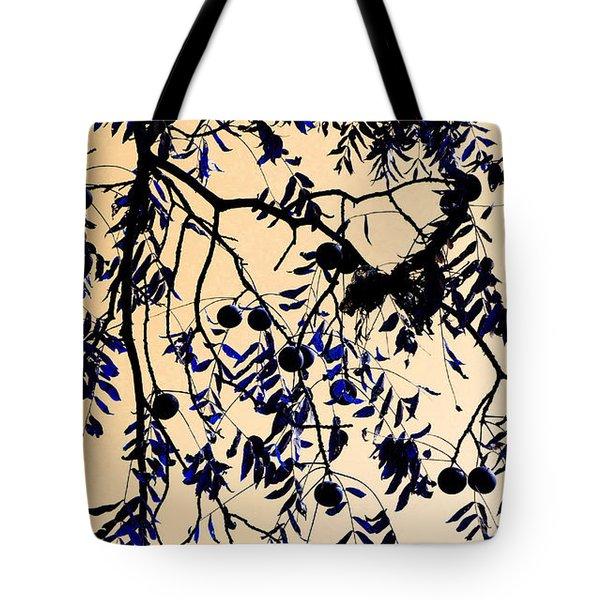 Blue Walnuts Tote Bag by Tina M Wenger