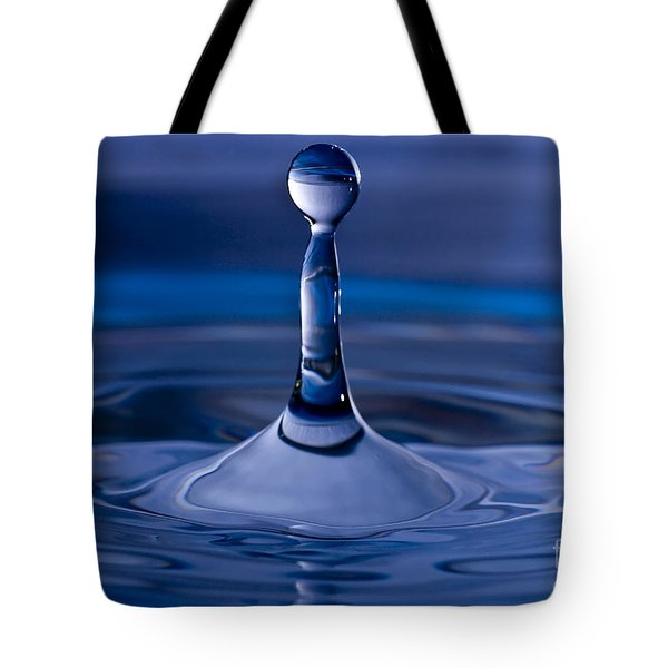Blue Water Drop Tote Bag