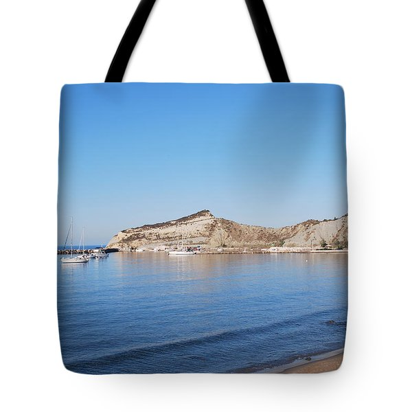 Tote Bag featuring the photograph Blue Water by George Katechis