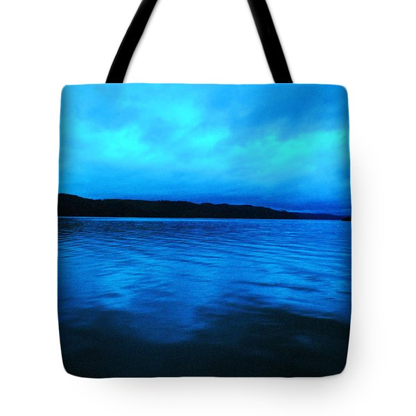 Blue Water In The Morn  Tote Bag by Jeff Swan