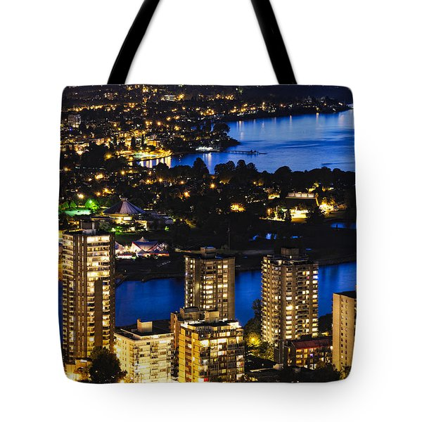 Tote Bag featuring the photograph Blue Water Kitsilano Beach Mcdix by Amyn Nasser