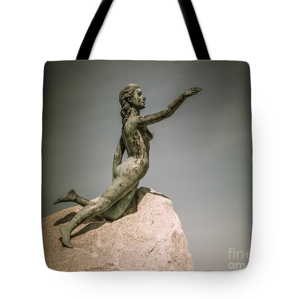 Blue Water Maiden Tote Bag