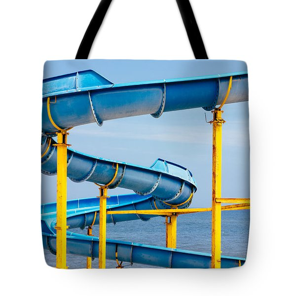 Blue Water Slide Tote Bag