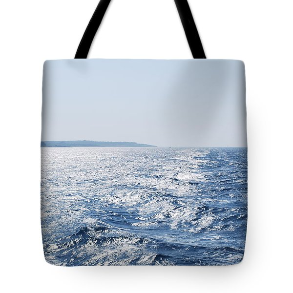 Tote Bag featuring the photograph Blue Waters by George Katechis
