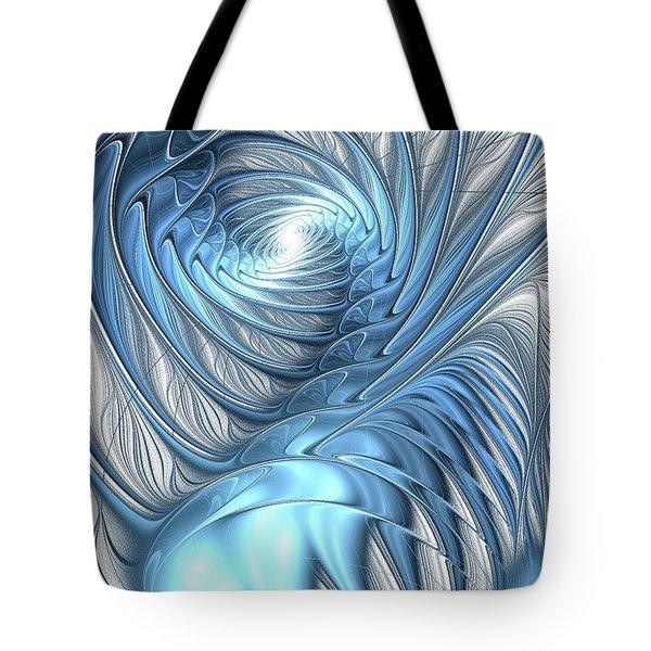 Blue Wave Tote Bag by Anastasiya Malakhova