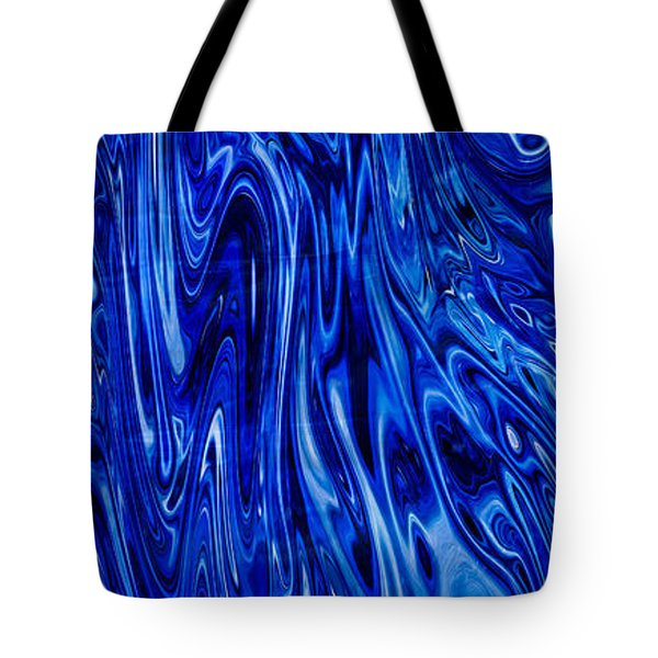 Blue Waves Of Beauty Tote Bag by Omaste Witkowski