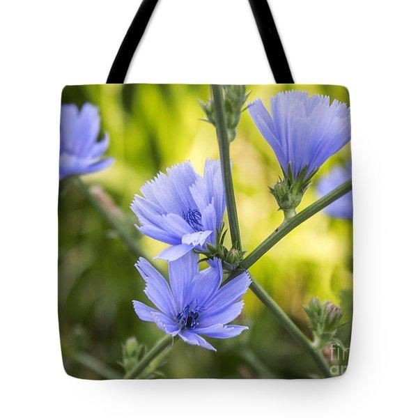 Blue Wildflwer Tote Bag