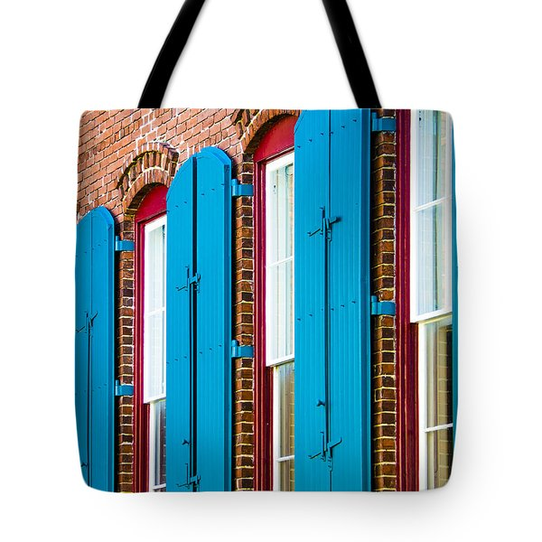Blue Windows Tote Bag