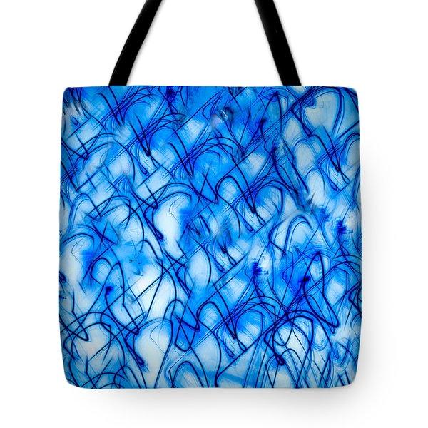 Blue Wispy Tote Bag