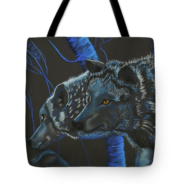 Blue Wolves Tote Bag